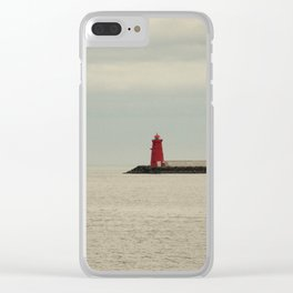 Red Lighthouse Clear iPhone Case