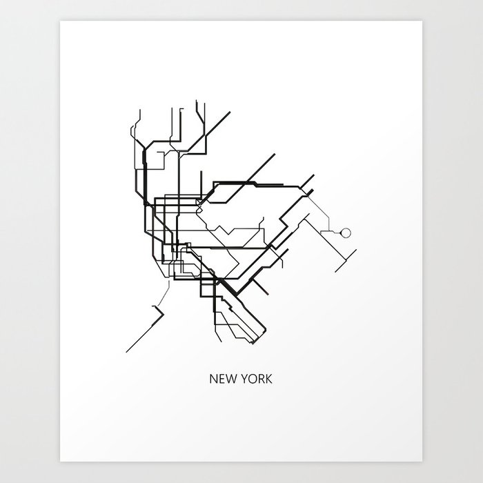 New York Subway Map To Print.New York Subway Map Print New York Metro Map Poster Subway Map Print Metro Map Poster Art Print By Nikolajovanovic