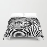 tree rings Duvet Covers featuring Tree Rings 2 by vogel