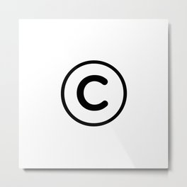 Copyright Symbol Metal Print