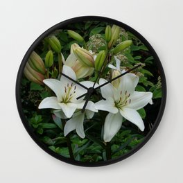 Blooming Lilies Wall Clock