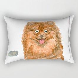 Pomeranian with balloons Rectangular Pillow