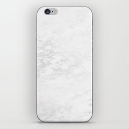 White Marble Silver Glitter Gray iPhone Skin