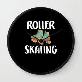 Roller Skates Vintage Sport Wall Clock