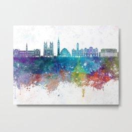 Washington DC V2 skyline in watercolor background Metal Print
