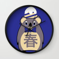 Haru - Season bear Spring Wall Clock