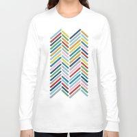 herringbone Long Sleeve T-shirts featuring Herringbone Colour Zoom by Project M