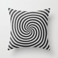 Swirl in Black and White Throw Pillow