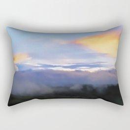 Sunset and cloud drape Rectangular Pillow