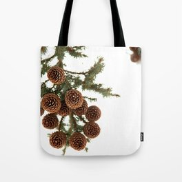(Spruce or Fir) Cones Tote Bag