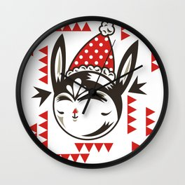 Red Remy Wall Clock