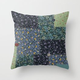 Faux Country Quilt Throw Pillow