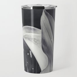 Calla Lily Flower in Black and White  Travel Mug