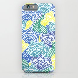 Blue and Yellow Garden iPhone Case