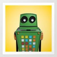 Tyler the robot. Art Print