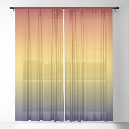 Color Gradient Sunset Sheer Curtain