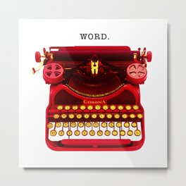 "Typowriter - ""Word"" Metal Print"