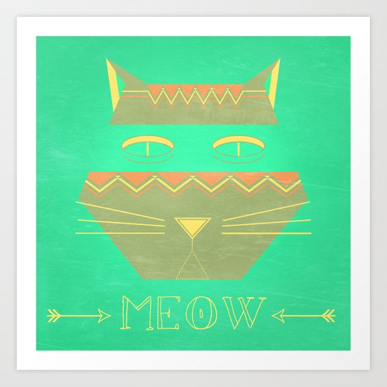 almost in cognito meow Art Print