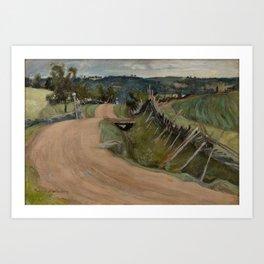 PEKKA HALONEN, LANDSCAPE FROM SORTAVALA. Art Print