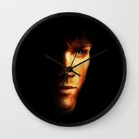sam winchester Wall Clocks featuring Sam Winchester / Supernatural - Painting Style by ElvisTR