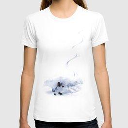 Skier in powder snow T-shirt