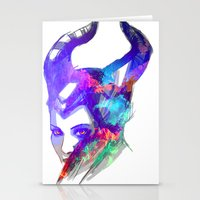 maleficent Stationery Cards featuring Maleficent by Ryky