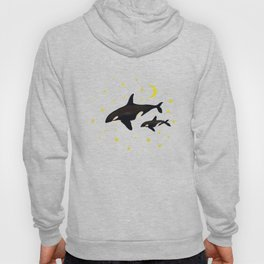 Whales at night  Hoody