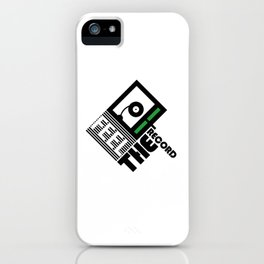 Feel The Record iPhone Case