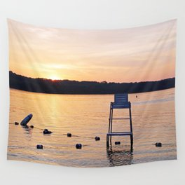 Summer Sunset Over Lake Wall Tapestry