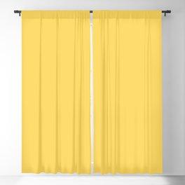 Lemon Twist Solid Color Yellow Blackout Curtain