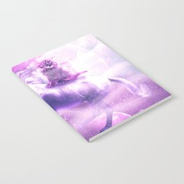 Kitty Cat Riding On Flying Space Galaxy Unicorn Notebook