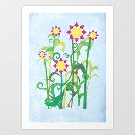 Unkept Garden Art Print