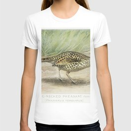 Ring-Necked Pheasant Female (Phasianus Torquatus) illustrated by JL Ridgway (1859-1947) and WB Gille T-shirt