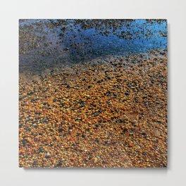 Rocks on the beach at Sandy Hook, New Jersey Metal Print