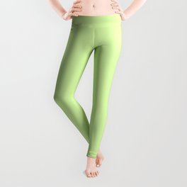 Spring - Pastel - Easter Green Solid Color Leggings
