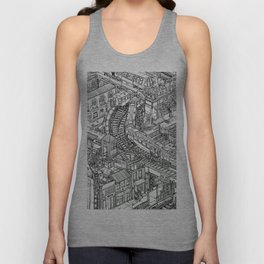 The Town of Train 2 Unisex Tank Top