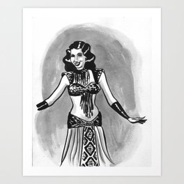 Samia Gamal Art Print