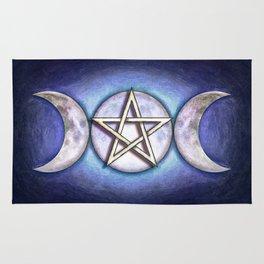 Moon Pentagram - Tripple Moon I Rug