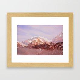 Khopra Mountains Framed Art Print