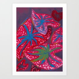 Dancing Caladiums Art Print