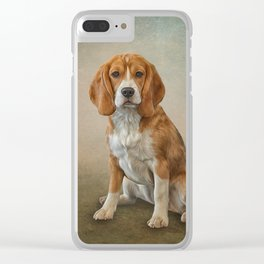 Drawing Dog Beagle Clear iPhone Case