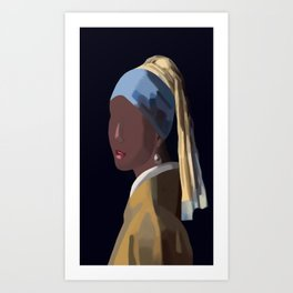 NOT SO FAMOUS: Girl with a Pearl Earring Art Print