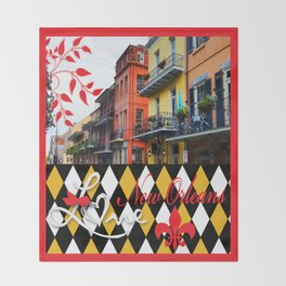 NEW ORLEANS:  LET THE GOOD TIMES ROLL!! Throw Blanket