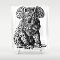 bioworkz Shower Curtains featuring Koala by BIOWORKZ