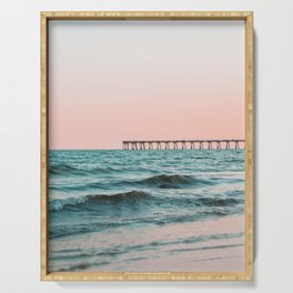 Beach Pier Sunrise Serving Tray