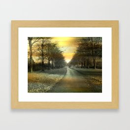 A winters day. Framed Art Print
