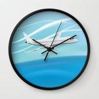 airplane Wall Clocks featuring Airplane by salamandra7