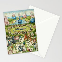 The Garden of Earthly Delights by Hieronymus Bosch Stationery Cards