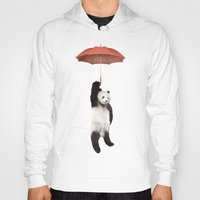 tapestry Hoodies featuring Pandachute by Vin Zzep
