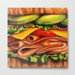 Sandwich- Turkey Bacon Avocado Metal Print